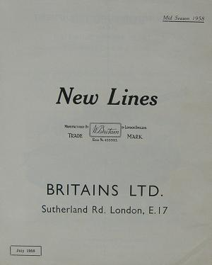 Britains New Lines July 1958